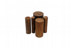 "Wooden Doming Dapping Punch Set of 5  2"", 1.5"", 1"", 0.75""  0.6. J1190"